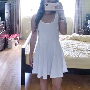 White Sleeveless Skater Dress - H&M